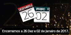 AFCAMÕES encerrados 26 Dezembro e 02 de Janeiro 2017