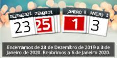 AFCAMÕES - Fechamos de 23 de Dezembro a 03 de Janeiro 2020