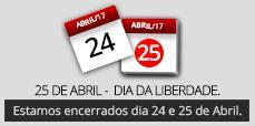 Encerrados 24 e 25 de Abril
