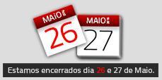 AFCAMÕES fechados 26 e 27 de Maio
