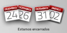 AFCAMÕES fechamos a 24 e 26, 31 de Dezembro e 2 de Janeiro de 2015.