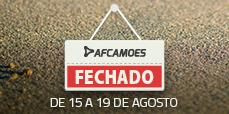 AFCAMÕES fechados de 15 a 19 de Agosto 2016