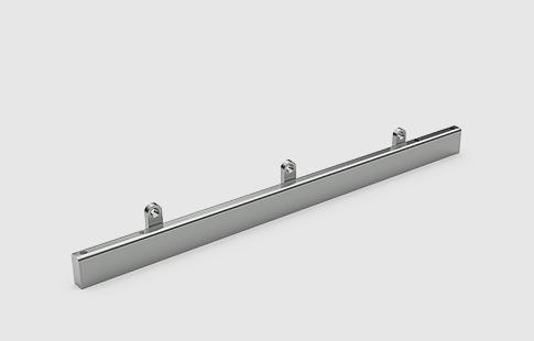 AFCAMÕES APC-7802, Calha guia superior para vidro, com batente.