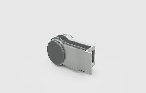 AFCAMÕES FEC-2604, Testa para vidro com batente para recepção da fechadura referência FEC-2603.