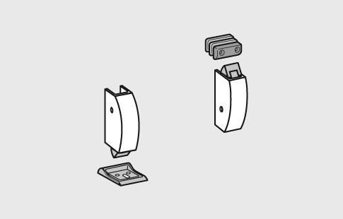 AFCAMÕES ABA-1006, Acessórios barra anti-pânico para fixação superior e inferior.