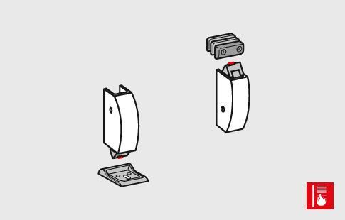 AFCAMÕES ABA-1007, Acessórios barra anti-pânico para fixação superior e inferior - Corta fogo.