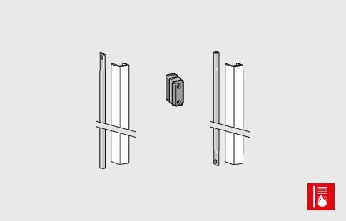 AFCAMÕES ABA-1010, Barra de ligação para barra anti-pânico, com tampa - corta fogo. Para portas com altura até 2270 mm.