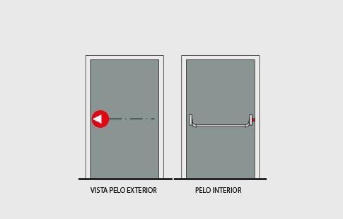 AFCAMÕES barra antipânico de alavanca BAP-6101V, /M /VM
