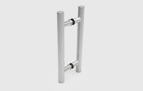 AFCAMÕES PXS-8100, puxador H duplo, em aço inox.
