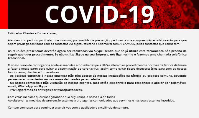 AFCAMÕES - Coronavírus COVID-19