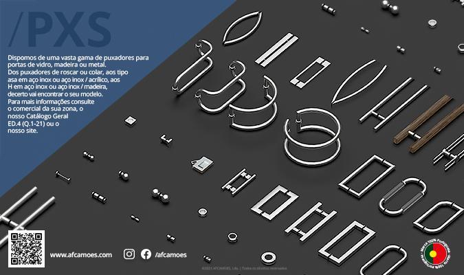 AFCAMÕES PXS - Puxadores para porta de vidro, madeira e metal