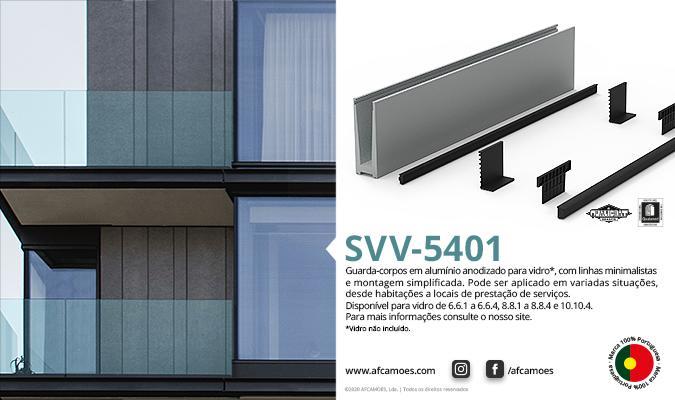 AFCAMÕES SVV-5401; guarda corpos em alumínio e vidro (não incluído)