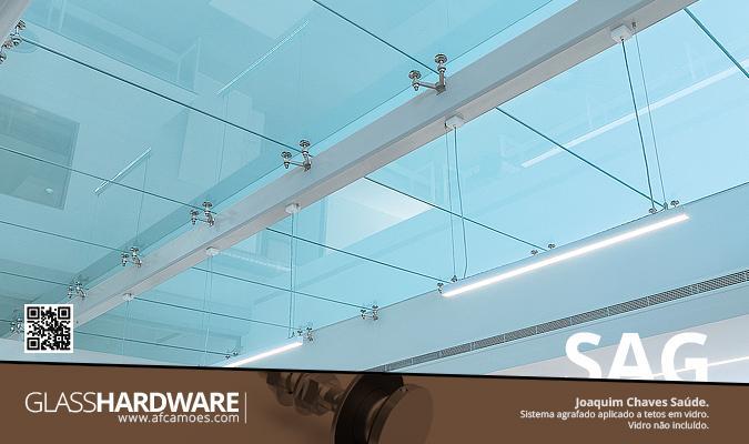 AFCAMÕES SAG - Sistema Agrafado, teto em vidro